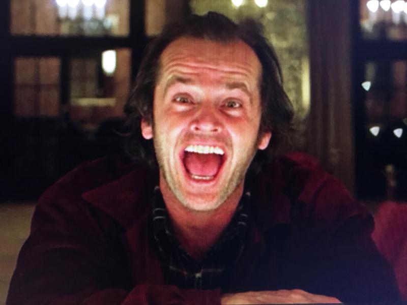 シャイニングのジャック・ニコルソンの狂気が怖い
